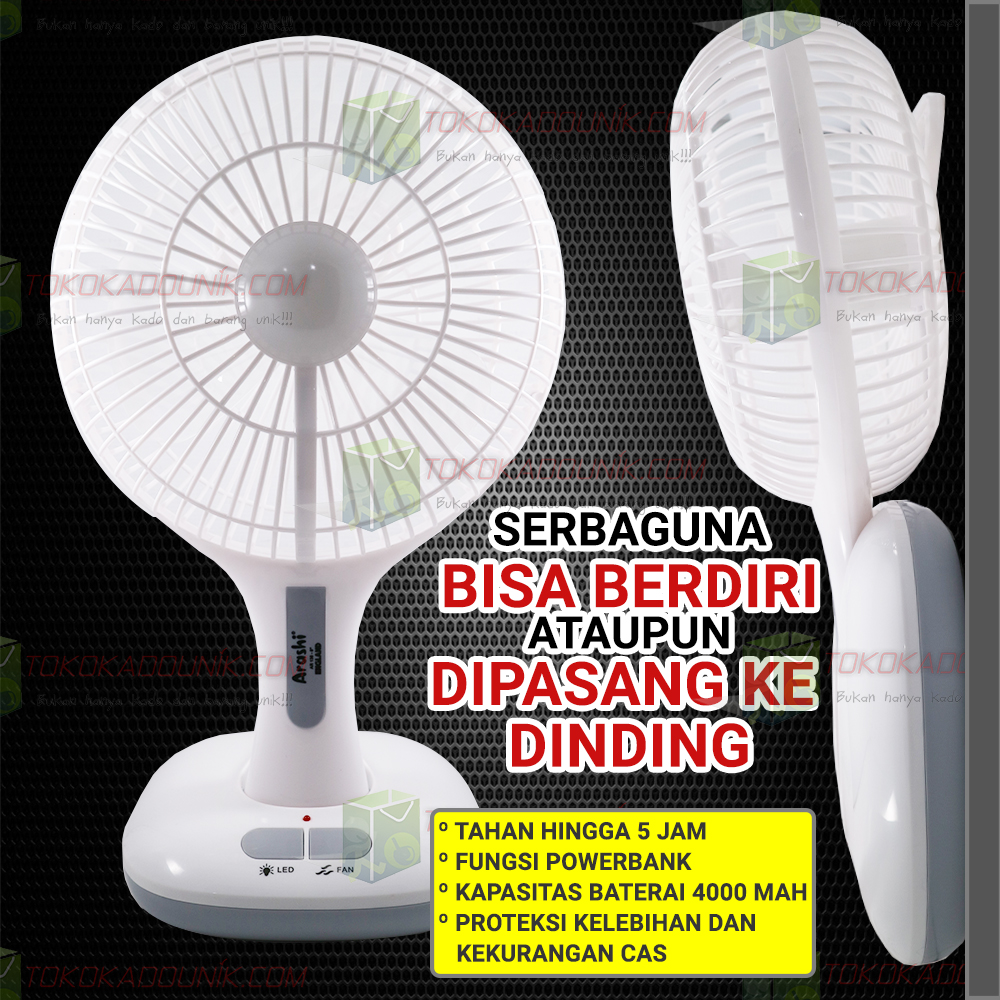 emergency FAN + LAMP AR138 England - tahan 5 jam ukuran 6