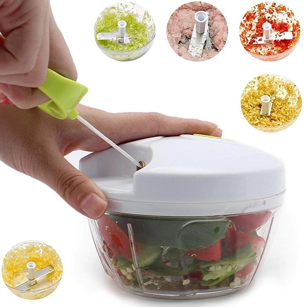 Mini speedy chopper - blender tarik manual / pemotong pencacah serbaguna sayur buah dan daging